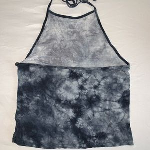 American Eagle Outfitters Tops - AE Black tie-dye halter top